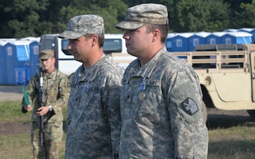 5-113th Field Artillery ADVON team conducts a final awards formation
