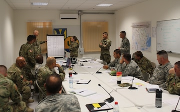 103rd Expeditionary Sustainment Command provides mission command support during Saber Guardian 17