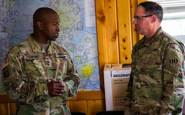 Maj. Gen. Crawford and Brig. Gen. Rogers at Northern Strike 17
