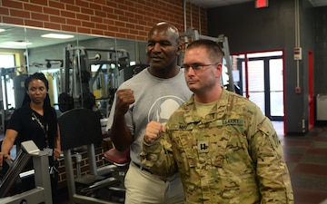 Evander Holyfield visit Soldiers at Fort Stewart