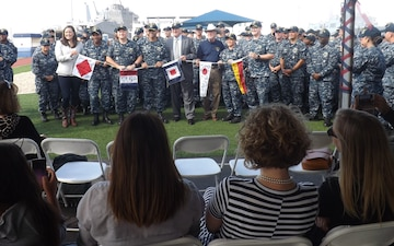USS Fort Worth Holds Exchange of Command & 5-Year Commissioning Anniversary Celebration