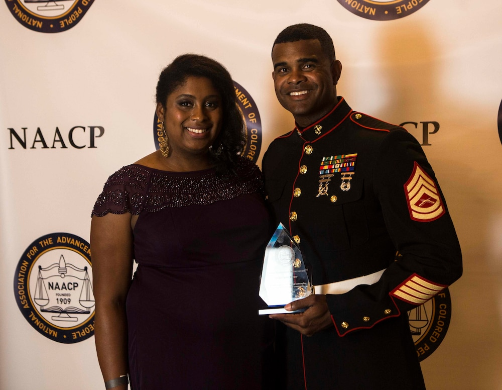 1st TSB Marine receives 2017 NCAAP Military and Service Award