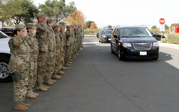 Cal Guardsmen pay respect to fallen firefighter