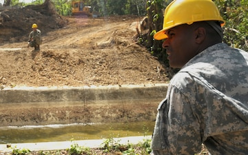 Puerto Rico Army National Guardsmen prepare for construction of bridge