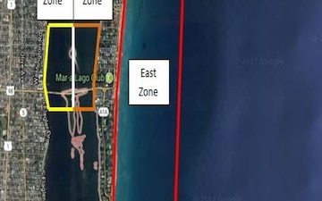 Mar A Lago Security Zones