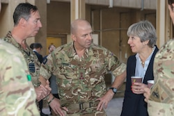 Prime Minister Theresa May Visits Soldiers in Iraq [Image 2 of 4]