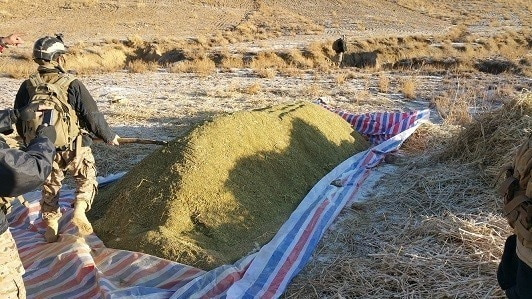 Afghan Special Operations seize 34 tons of hashish