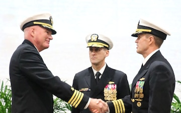 Piret Takes Helm at 75th NAVOCEANO Change of Command