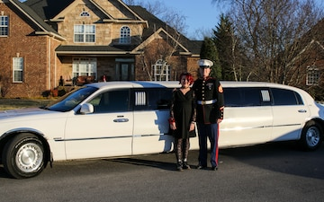 Marine recruiter steps in for a father daughter dance