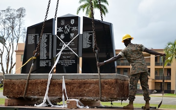 Soldier, Marine engineers relocate Bronco Memorial