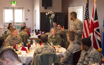 Chief Master Sgt. Easton visits the 501CSW