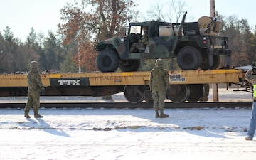 Marines tackle cold-weather rail training during Ullr Shield exercise at Fort McCoy