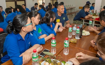 PP18 crew participate in cultural and language exchange in Vietnam.
