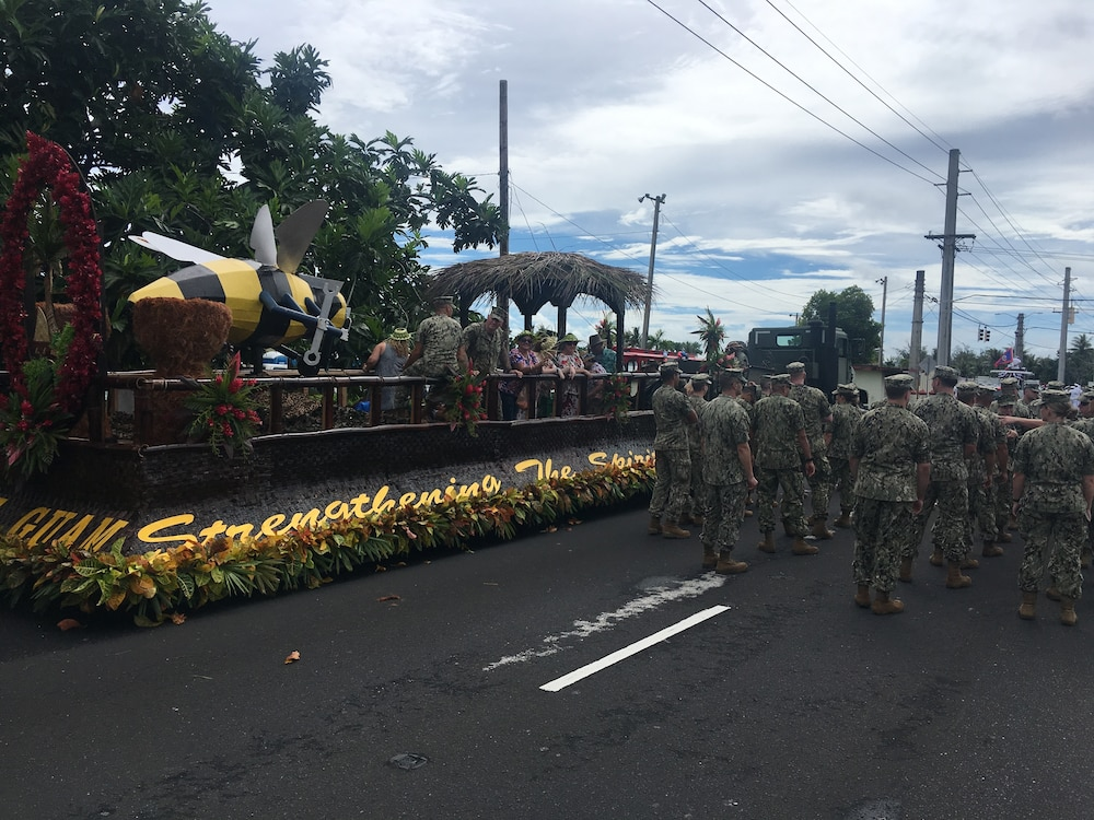 NMCB-11 SEABEES SUPPORT ANNUAL GUAM LIBERATION DAY PARADE