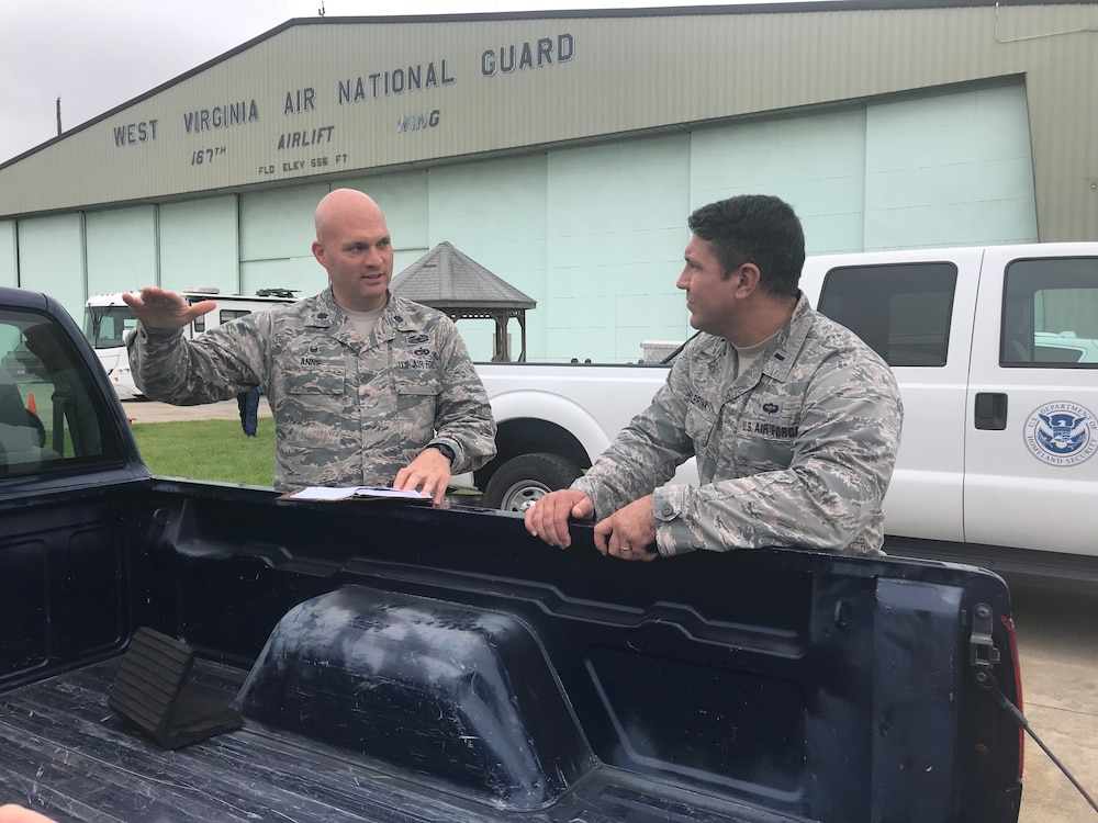 167th airlift wing serves as staging area hurricane and flooding relief