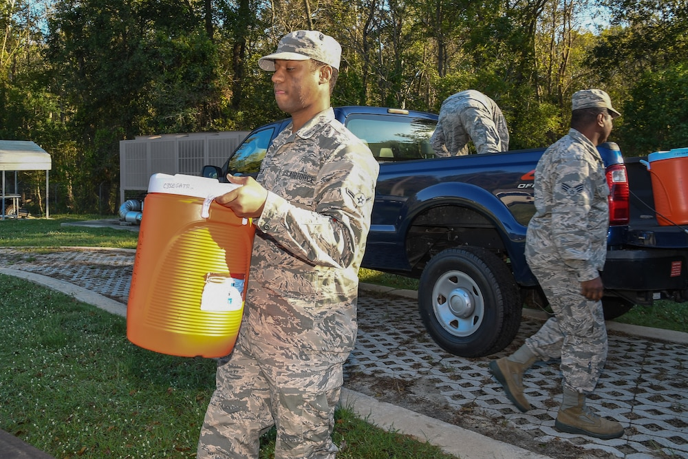 GA ANG 116th ACW Airmen help with Hurricane Michael relief efforts