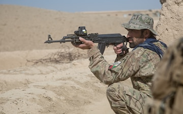 Afghan Special Security Forces on the move in Logar
