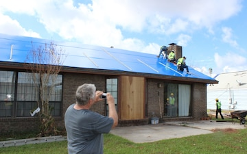 Operation Blue Roof allows local Panama City resident to move forward with repairs in his home after Hurricane Michael