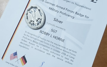 Dixie Thunder Soldier Earns German Award