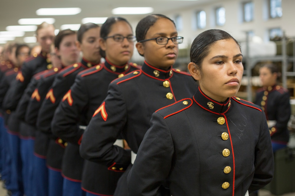 November Company becomes first company to graduate in new female dress blues
