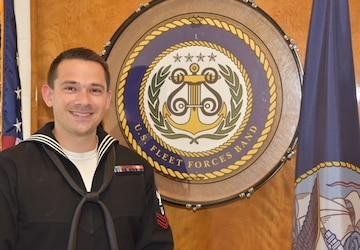 Musician Second Class Carl Schulte U.S. Fleet Forces Band's Junior Sailor of the Year, FY18.