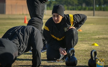 "525th Military Intelligence ""Lightning"" Brigade field tests the Army Combat Fitness Test"
