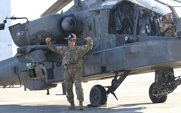 3rd Squadron, 17th Calvary Regiment honor Pilot with Final Flight