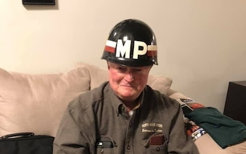 18th MP Vietnam Veteran reunites with helmet
