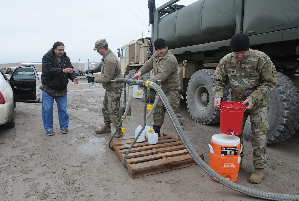 SD National Guard provides water to Pine Ridge residents