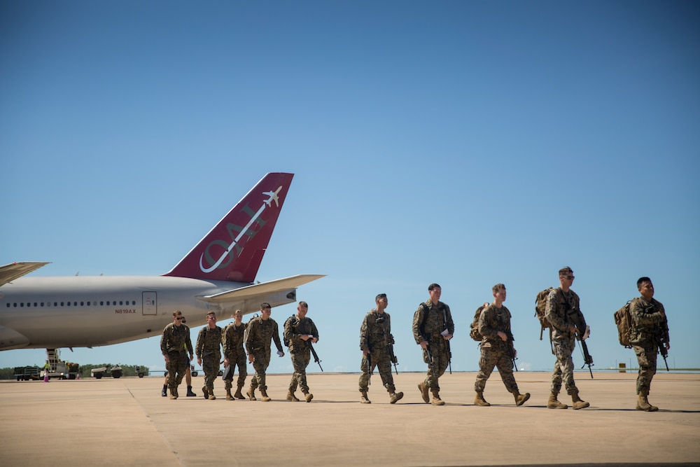 U.S. Marines arrive in Darwin for upcoming rotation