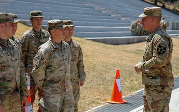 2ID DCG-M Visits Soldiers During 2ID Best Warrior Competition