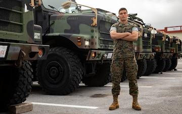 Road Warrior | 3rd MLG Marine receives the MT Operator of the year award