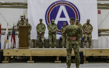 Army National Guardsmen transfer responsibility of the OIR/OSS aviation support mission