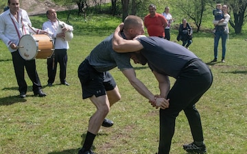American Soldiers compete in Bulgarian Strong Man Competition
