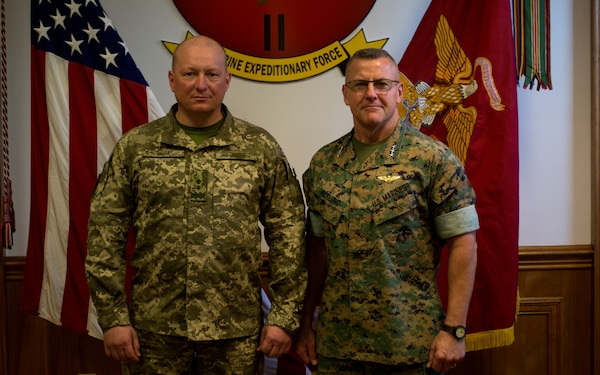 US, Ukrainian Marine Corps leaders meet during Key Leader Engagement