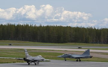 Swamp Foxes wrap up a successful Arctic Challenge Exercise in Sweden
