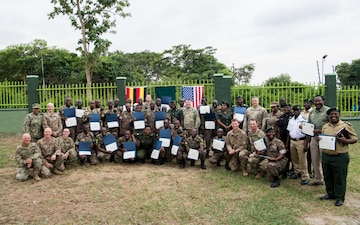 U.S. Military Supports Training of Uganda Wildlife Authority Park Rangers