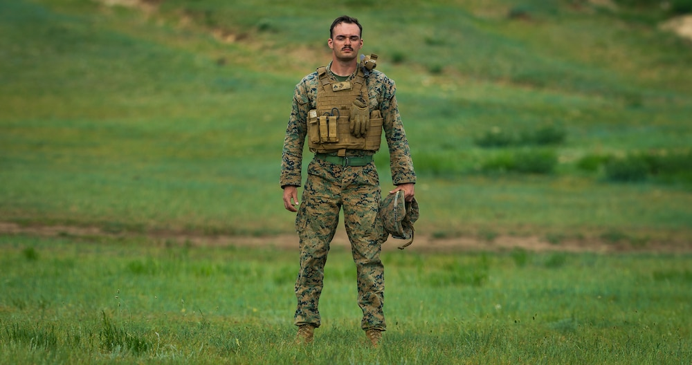 U.S. Marine Corps military officer participates in international exercise