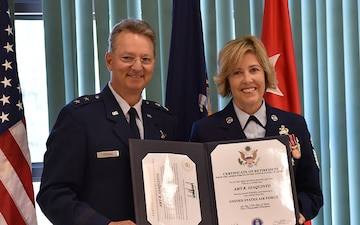 Command Chief Master Sgt. Amy Giaquinto, first woman to be New York National Guard senior enlisted leader, retires