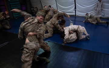 Task Force Warrior and Japanese Ground Self-Defense Force meet for combative training