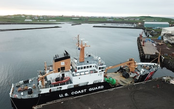 U.S. Coast Guard buoy tender patrols remote waters around Alaska
