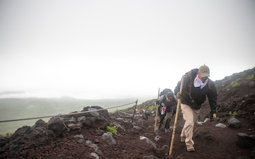 Camp Fuji Marines, sailors climb a wonder of Japan