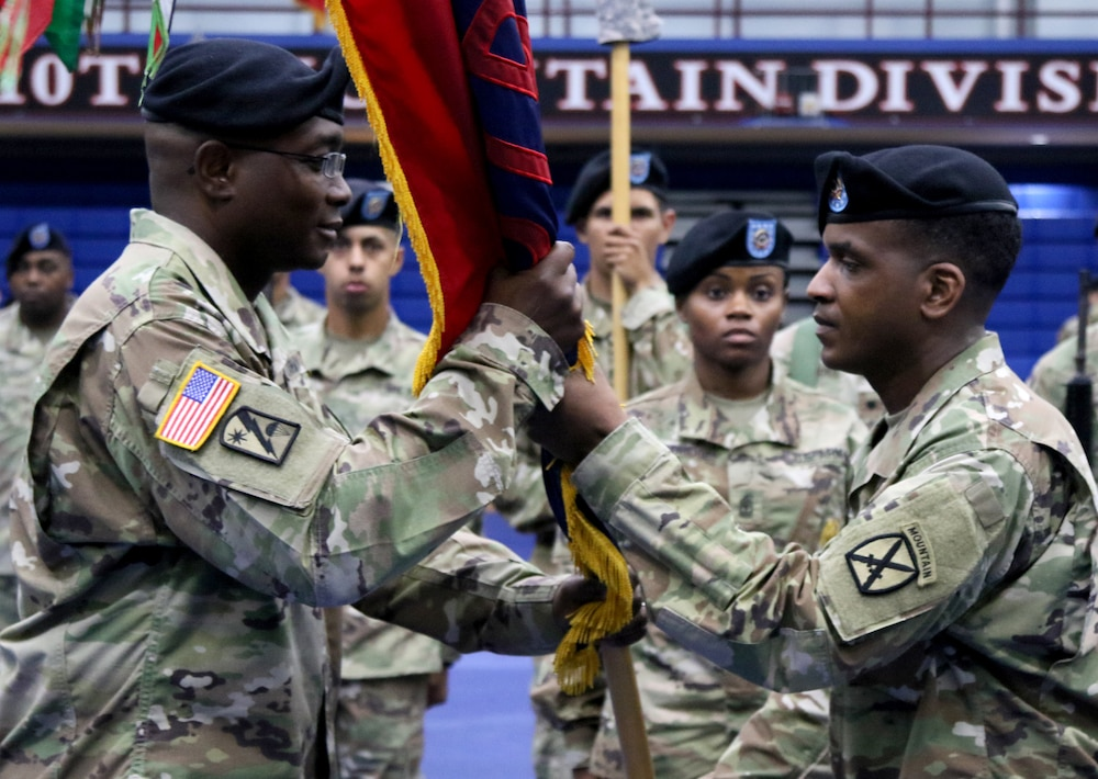 Bostic relinquishes responsibility as 10th HSTB command sergeant major