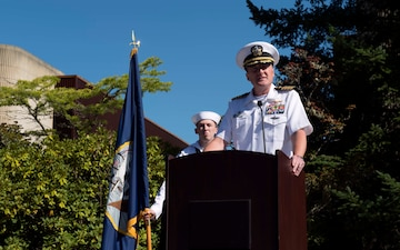 USS Michigan Blue Conducts Change of Command Ceremony