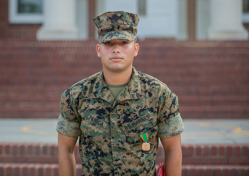Parris Island Marine Awarded For Rescue in Car Crash Incident