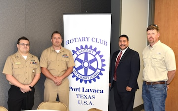 Navy Recruiting District San Antonio visits Port Lavaca Rotary Club