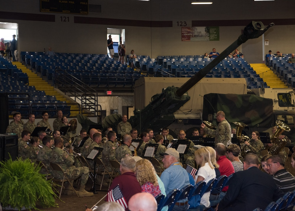 Col. Schreiner speaks at Missouri State Fair Military Appreciation Day