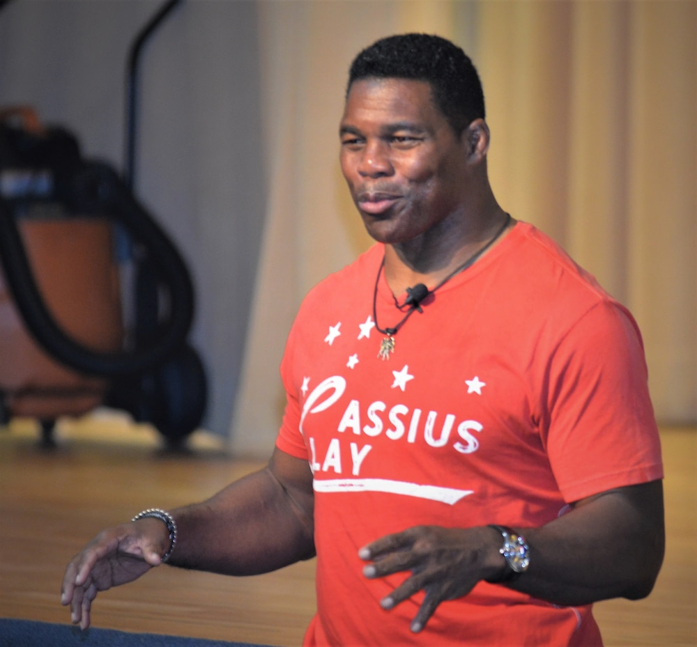 Herschel Walker speaks