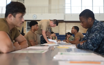 USS Blue Ridge (LCC 19) conducts Navywide E-5 Advancement Exam