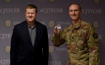 Acting Secretary of the Army coins Capt. Matt Hershon